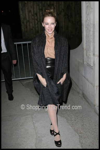 Paris Fashion Week: Kylie Minogue elegant in YSL at Yves ...