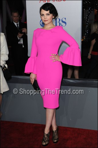 ginnifer goodwin pink dress people's choice awards