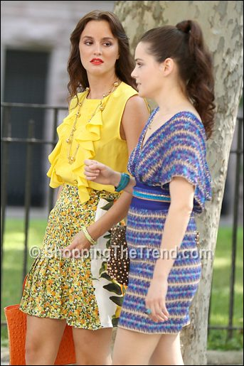 roxane mesquida missoni dress gossip girl