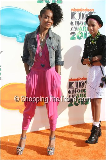 jada pinkett smith pink jumpsuit kids choice awards