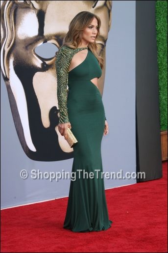This Just In: Buy Jennifer Lopez Emilio Pucci green cutout ...