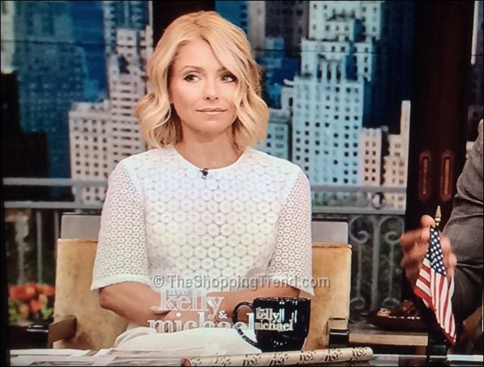 Kelly Ripa Alc White Crop Top On Live July 9th