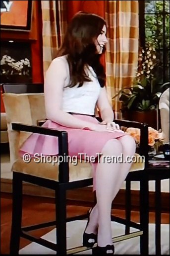 lily collins dress live with kelly march 2012