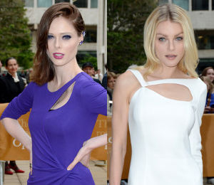 Coco Rocha and Jessica Stam in Escada
