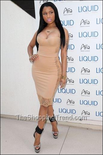 Nicki Minaj sexy nude dress at LIQUID in Las Vegas!