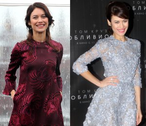 Olga Kurylenko in Stella McCartney & Elie Saab