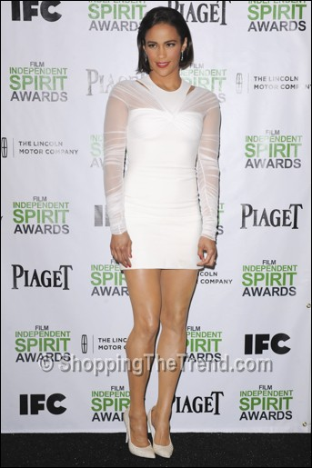 This Just In: Paula Patton Versace white dress ...