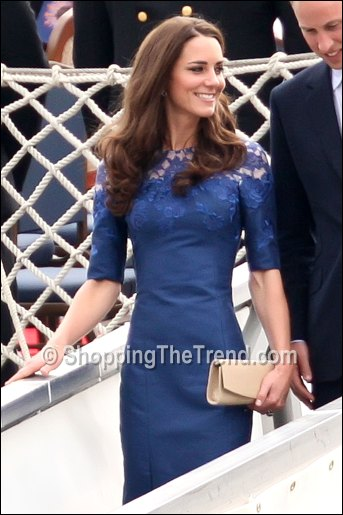 Get the Look: Kate Middleton in Erdem blue lace dress ...