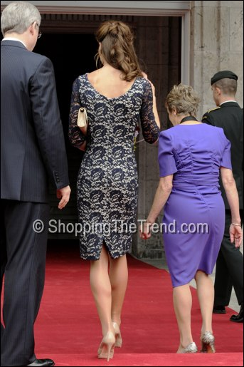 catherine duchess of cambridge erdem blue lace dress