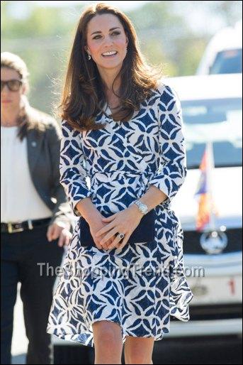 Kate Middleton Diane Von Furstenberg Wrap Dress In Australia