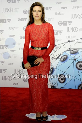 feist red lace dress juno awards alessandra rich