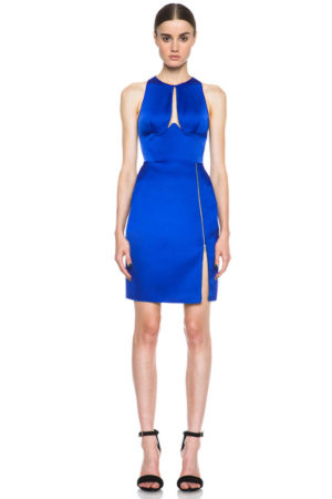 Dion Lee Radius Poly Dress in Blue