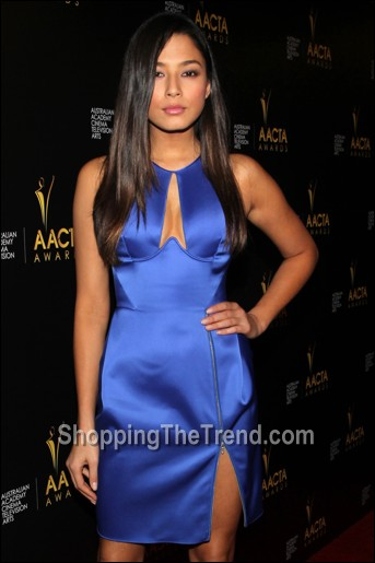 Jessica Gomes blue cutout dress