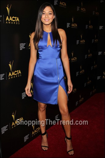 Jessica Gome blue cutout dress Dion Lee