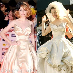 Carry Bradshaw Wedding Dress.Pride Of Britain Awards Nicola Roberts Here Comes The Bride In