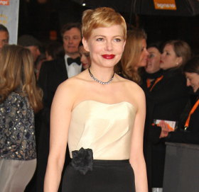 Image showing BAFTAs in black & white: Michelle Williams in H&M, Kristen Wiig in Alberta Ferretti, Meryl Streep in Vivienne Westwood & more!