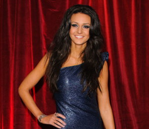 Image showing Shop Michelle Keegan Forever Unique aztec sequin dress - British Soap Awards afterparty