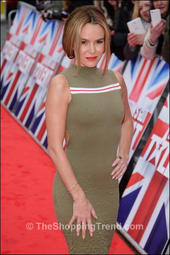 Amanda Holden Sexy In Suno Army Green Dress At Bgt Auditions