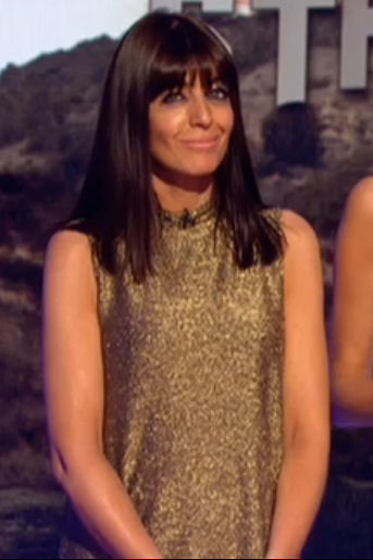 Claudia Winkleman gold dress Strictly