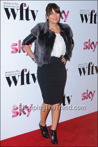 Davina McCall fur jacket leather sleeves Women in Film & TV