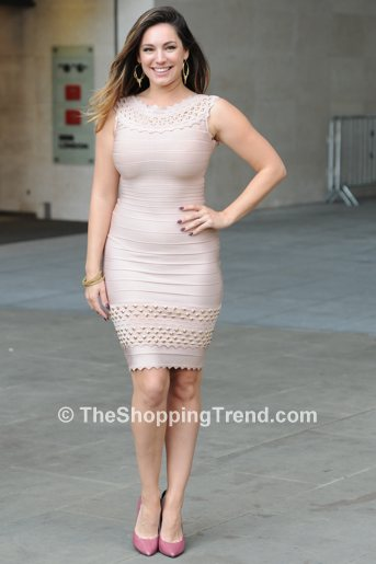 Kelly Brook In Herve Leger Bodycon Dress At Bbc Radio 1