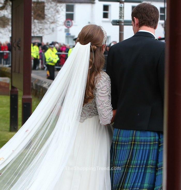 Kim Sears Wedding Dress Close Up Photos