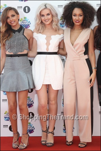 Perrie Edwards white dress by Three Floor BBC Radio 1 Teen Awards