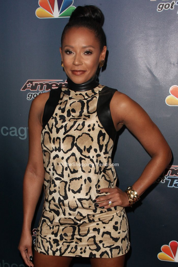 9441ad52e Mel B in Gucci leopard print dress on AGT Results Show