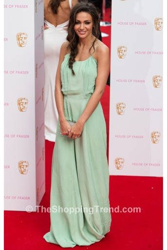 Michelle Keegan Green Dress At Bafta Tv Awards By Label Lab