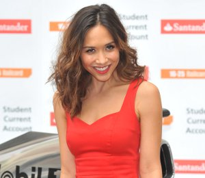 Shop Myleene Klass red dress by Very - Santander photocall June 26