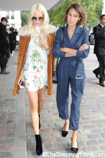 Alexa Chung blue jumpsuit LFW by Topshop