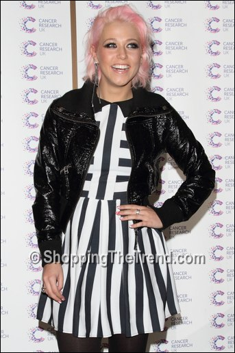 Amelia Lily black & white stripe dress April 2013