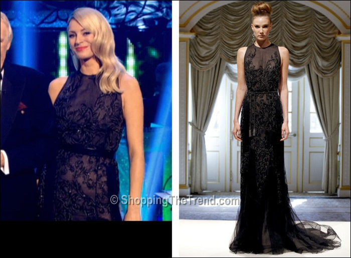 Tess Daly wearing Dennis Basso dress Strictly Nov 2