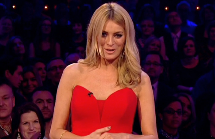 Tess Daly Red Dress On Strictly Final By Suzanne Neville