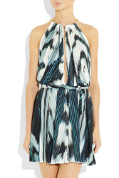 Just Cavalli Adjustable Printed Crepe Jersey Dress Intl Shipping