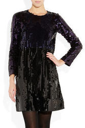 Sonia By Sonia Rykiel Two Tone Sequined Dress
