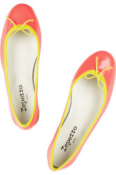 Repetto The Bb Neon Glazed Leather Ballet Flats