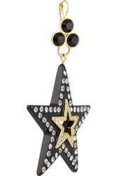 Dolce Gabbana Large Brass And Crystal Star Earrings Intl Shipping
