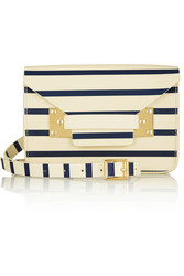 Sophie Hulme Envelope Mini Striped Leather Shoulder Bag Intl Shipping