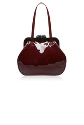 Lulu Guinness Black Cherry Patent Mid Leather Pollyanna