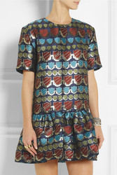 House Of Holland Jack Metallic Jacquard Mini Dress Intl Shipping