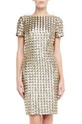 Ted Baker London Tabie Short Sleeve Sequined Dress