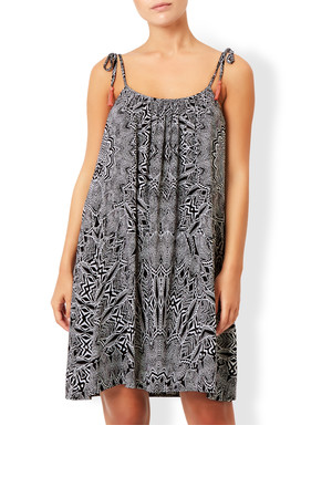 Accessorize Mono Feather Print Cami Dress
