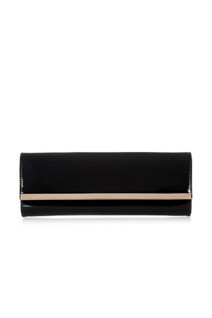 Accessorize Patent Baguette Clutch Bag