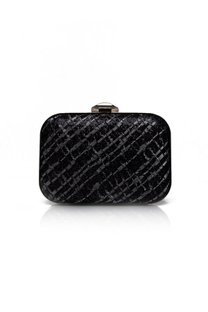 Aftershock Jamie Black Embellished Clutch Bag