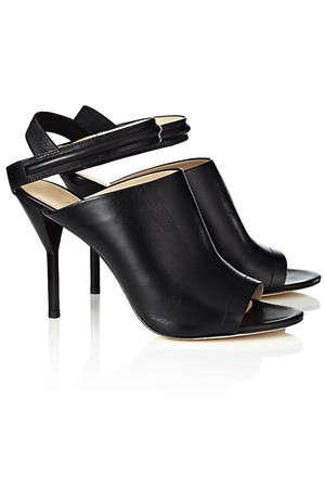 31 Phillip Lim Black Leather Martini Sandals