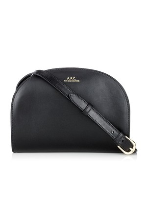 Apc Black Leather Demi Lune Bag