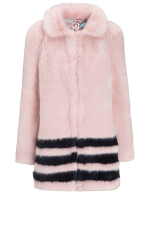 Shrimps Pink Faux Fur Dulcie Coat
