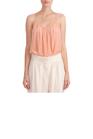 Chloe Gathered Camisole Blush