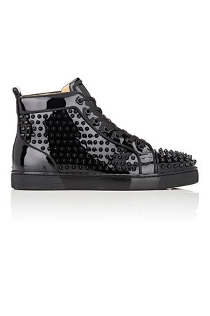 Christian Louboutin Mens Louis Orlato Flat Patent Leather Sneakers